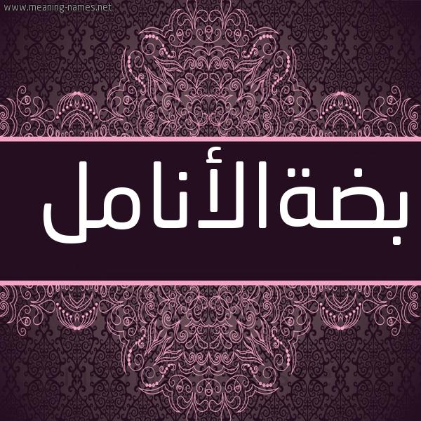 صورة اسم بضةالأنامل Bd'hal'anaml شكل 4 صوره زخرفة عربي للإسم بخط عريض