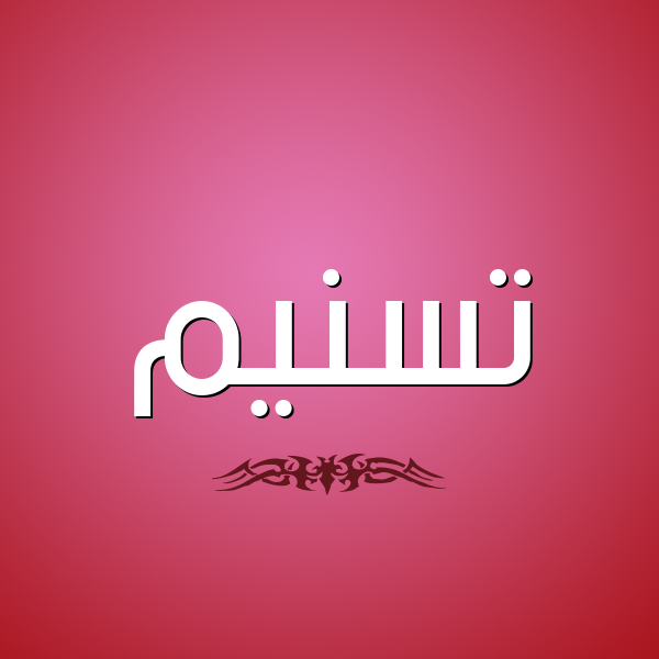 شكل 2 صوره للإسم بخط عريض صورة اسم تسنيم Tsnym