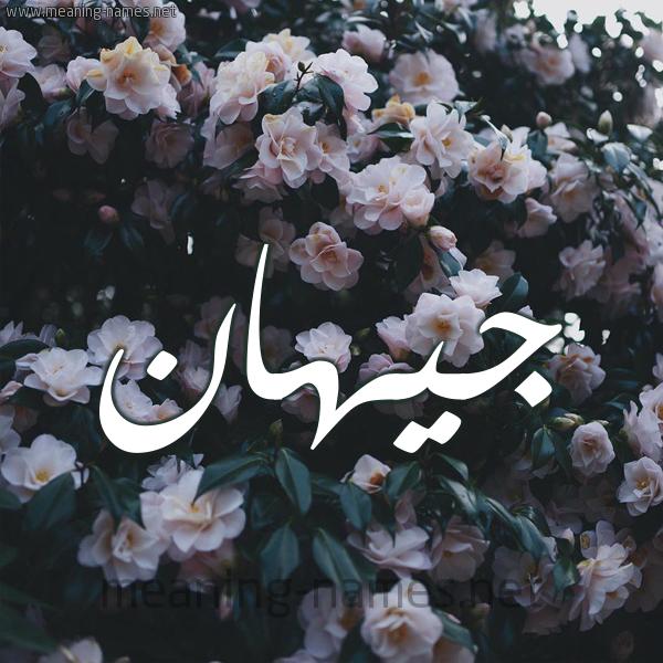 شكل 11 صوره ورود فل وياسمين للإسم بخط رقعة صورة اسم جيهان Jehan