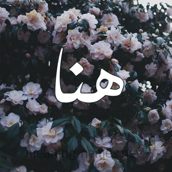 صورة اسم هَنا HANA شكل 11 صوره ورود فل وياسمين للإسم بخط رقعة