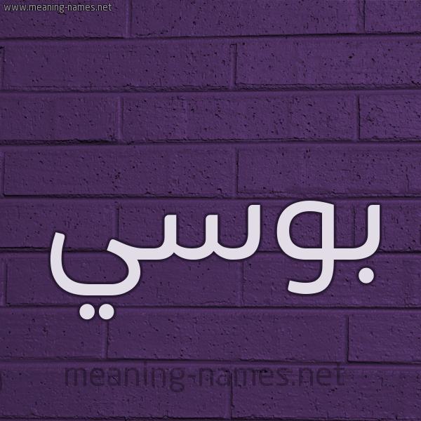 شكل 12 الإسم على الحائط الجداري صورة اسم بُوسي BOOSI