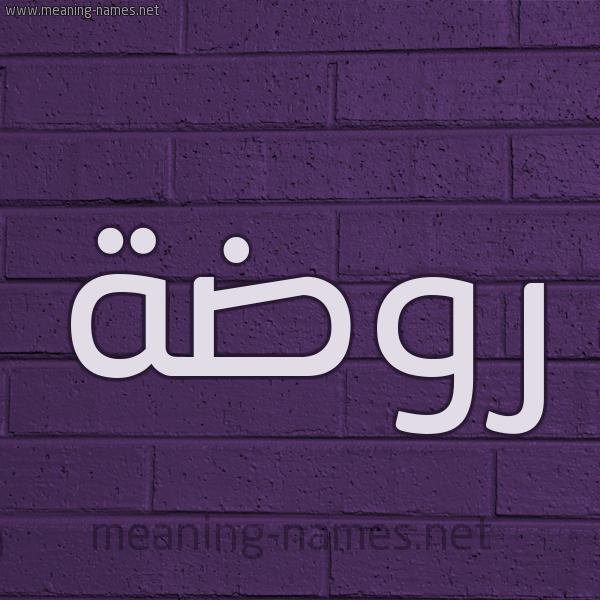 شكل 12 الإسم على الحائط الجداري صورة اسم روضة Rowda
