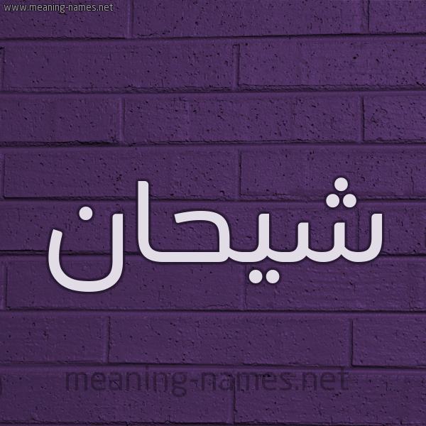 شكل 12 الإسم على الحائط الجداري صورة اسم شِيحان SHEIHAN