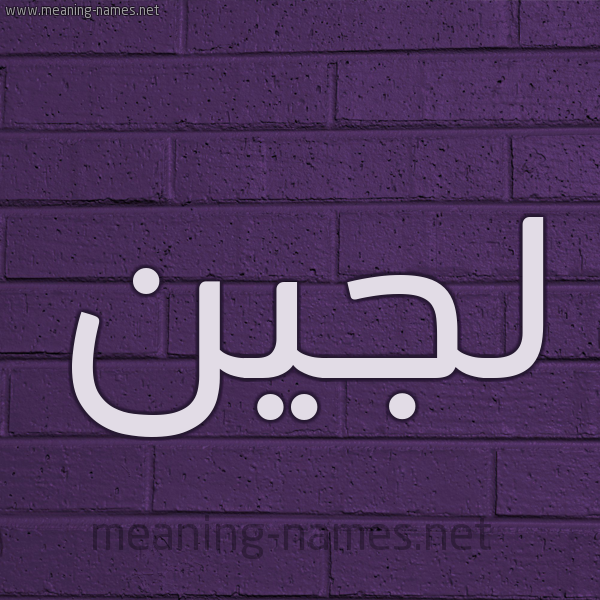 شكل 12 الإسم على الحائط الجداري صورة اسم لُجَيْن LOGeen