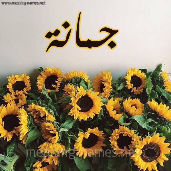 صورة اسم جمانة Jumana شكل 17 صوره دوار الشمس للإسم بخط رقعة