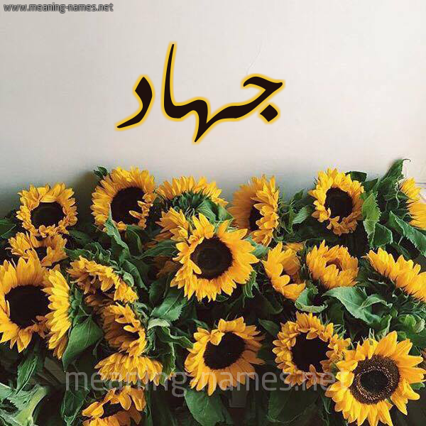 صورة اسم جهاد jihad شكل 17 صوره دوار الشمس للإسم بخط رقعة