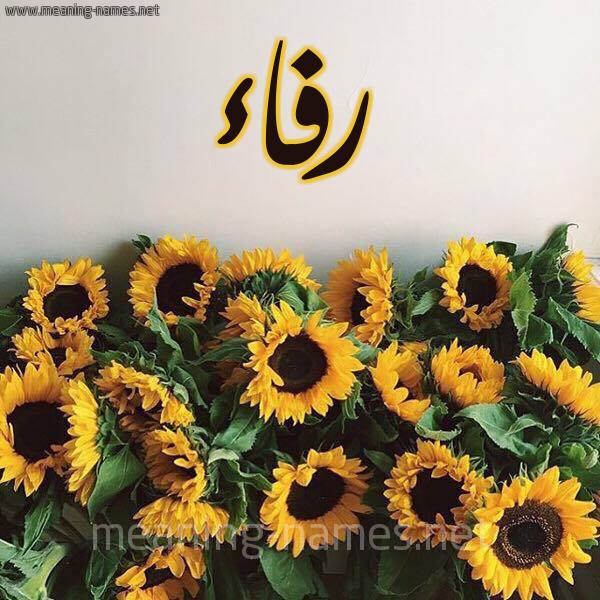 شكل 17 صوره دوار الشمس للإسم بخط رقعة صورة اسم رفاء Rfaa