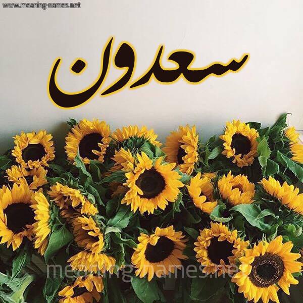 صورة اسم سعدون Sadon شكل 17 صوره دوار الشمس للإسم بخط رقعة