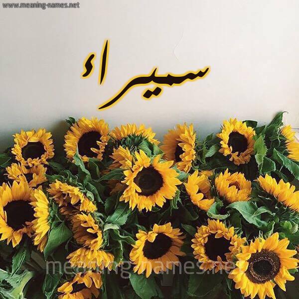 صورة اسم سميراء Smyra'a شكل 17 صوره دوار الشمس للإسم بخط رقعة