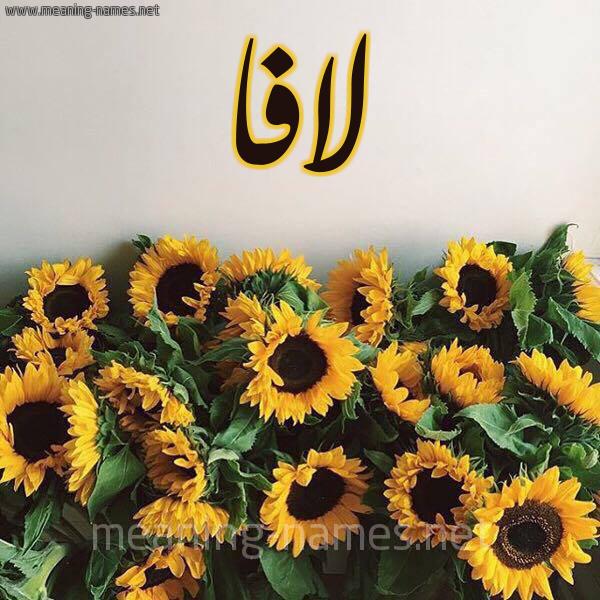 صورة اسم لافا Lafa شكل 17 صوره دوار الشمس للإسم بخط رقعة