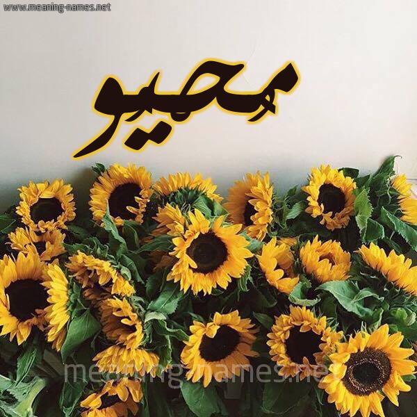 صورة اسم مُحْيُو MOHIOO شكل 17 صوره دوار الشمس للإسم بخط رقعة