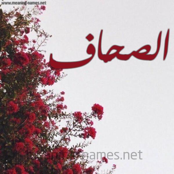 صورة اسم الصحّاف ALSHAF شكل 18 صوره الورد الأحمر للإسم بخط رقعة