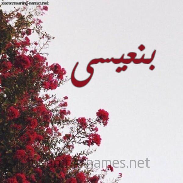 صورة اسم بنعيسى BENAISSA شكل 18 صوره الورد الأحمر للإسم بخط رقعة