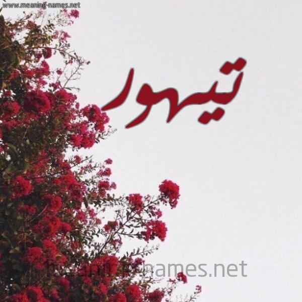 صورة اسم تيهور Tyhwr شكل 18 صوره الورد الأحمر للإسم بخط رقعة