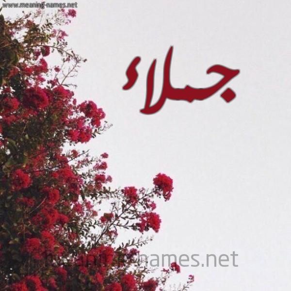 شكل 18 صوره الورد الأحمر للإسم بخط رقعة صورة اسم جملاء GMLAA