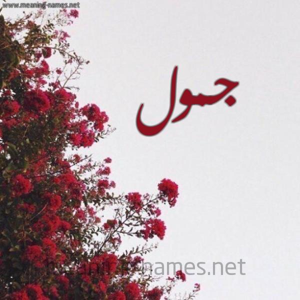 شكل 18 صوره الورد الأحمر للإسم بخط رقعة صورة اسم جمول Jmwl