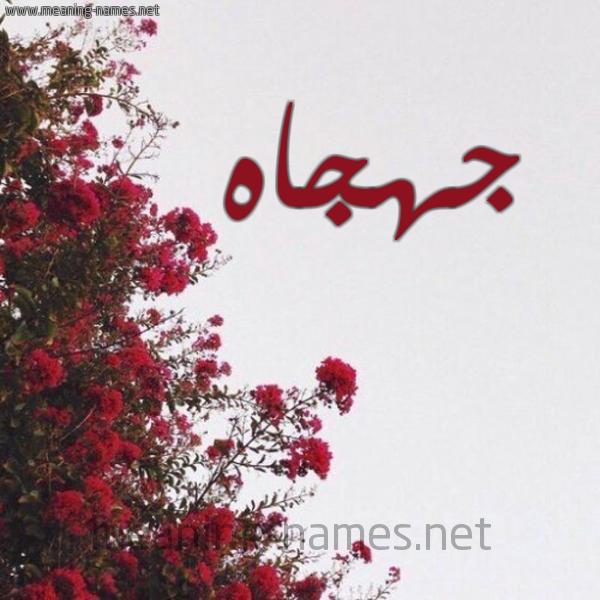 صورة اسم جهجاه Jhjah شكل 18 صوره الورد الأحمر للإسم بخط رقعة