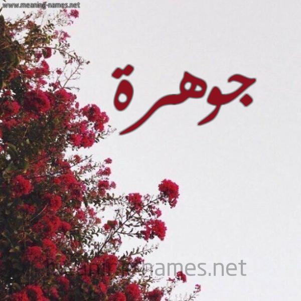شكل 18 صوره الورد الأحمر للإسم بخط رقعة صورة اسم جوهرة Johra