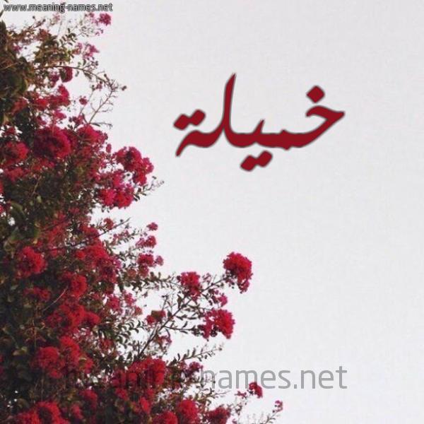 شكل 18 صوره الورد الأحمر للإسم بخط رقعة صورة اسم خميلة Khmylh