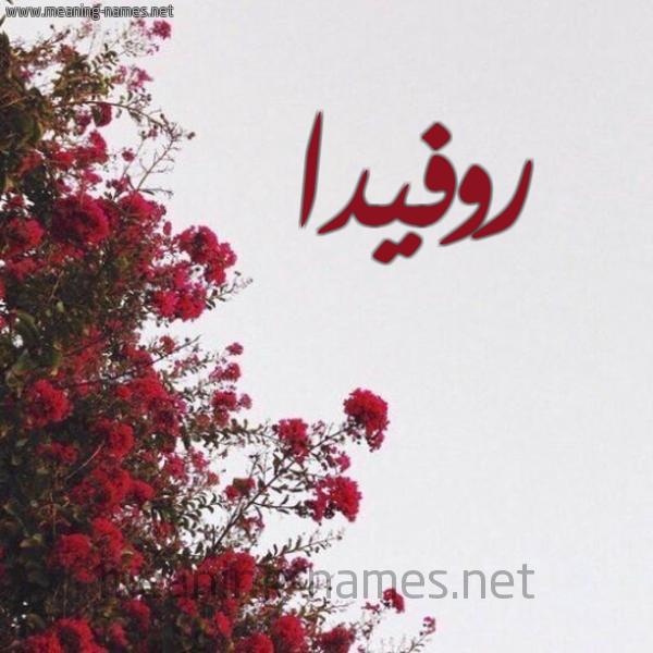 صورة اسم روفيدا Rofida شكل 18 صوره الورد الأحمر للإسم بخط رقعة