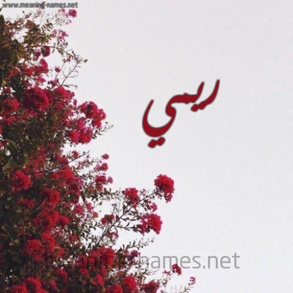 صورة اسم ريمي Rimi شكل 18 صوره الورد الأحمر للإسم بخط رقعة