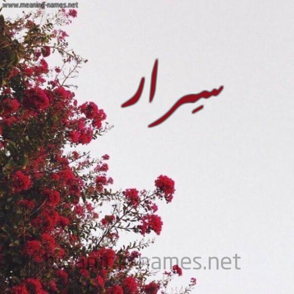صورة اسم سِرار SERAR شكل 18 صوره الورد الأحمر للإسم بخط رقعة
