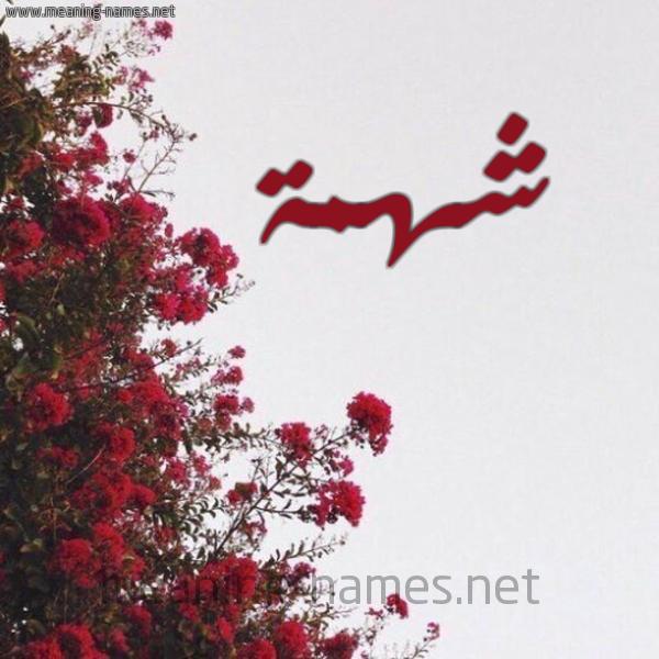 شكل 18 صوره الورد الأحمر للإسم بخط رقعة صورة اسم شهمة Shhmh