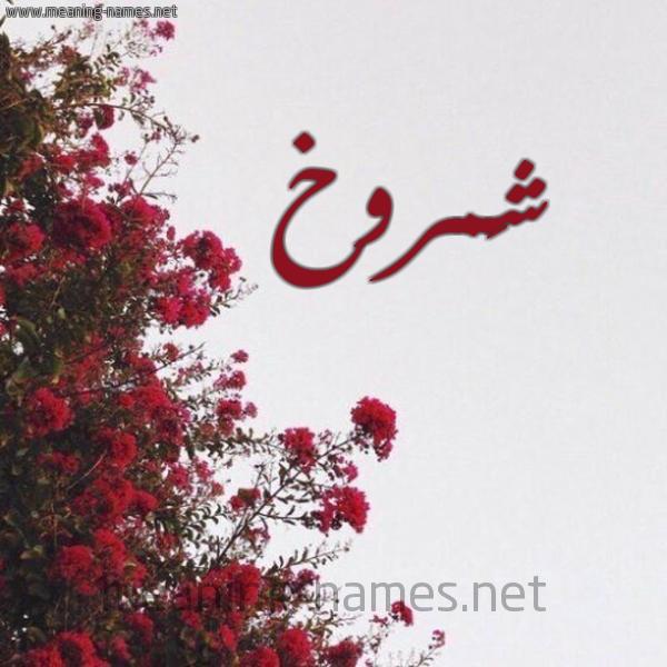 شكل 18 صوره الورد الأحمر للإسم بخط رقعة صورة اسم شَمروخ SHAMROKH