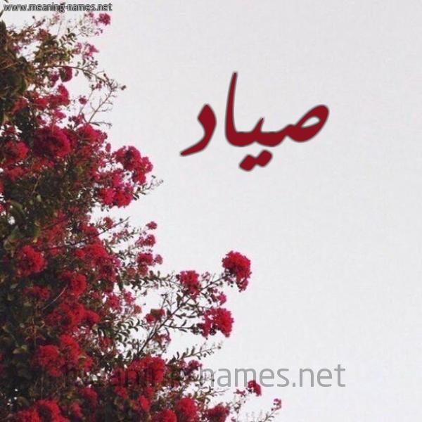 صورة اسم صياد Syad شكل 18 صوره الورد الأحمر للإسم بخط رقعة