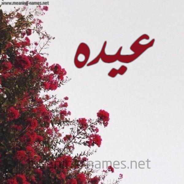 صورة اسم عيده Aydh شكل 18 صوره الورد الأحمر للإسم بخط رقعة