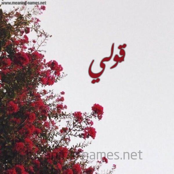 شكل 18 صوره الورد الأحمر للإسم بخط رقعة صورة اسم قُولي QOOLI