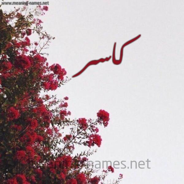 صورة اسم كاسر Kasr شكل 18 صوره الورد الأحمر للإسم بخط رقعة
