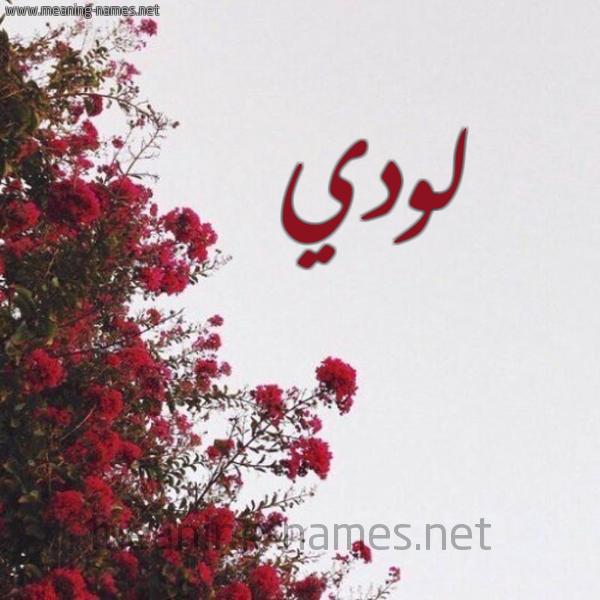 صورة اسم لودي Lodi شكل 18 صوره الورد الأحمر للإسم بخط رقعة