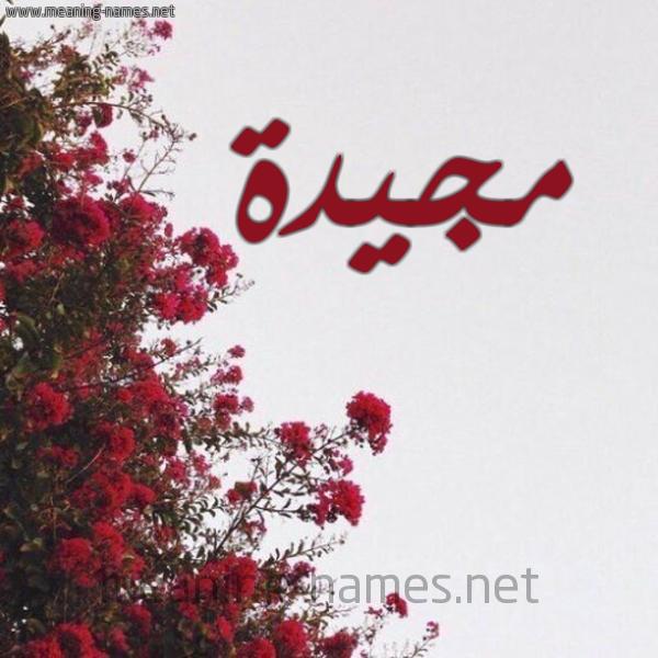 صورة اسم مجيدة Mjida شكل 18 صوره الورد الأحمر للإسم بخط رقعة