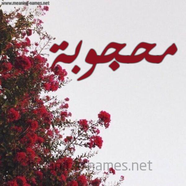 شكل 18 صوره الورد الأحمر للإسم بخط رقعة صورة اسم محجوبة Mahjouba