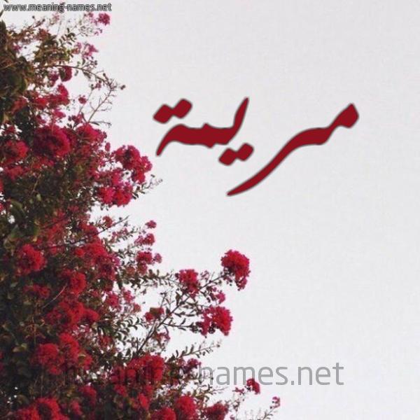 شكل 18 صوره الورد الأحمر للإسم بخط رقعة صورة اسم مريمة MARYAMA