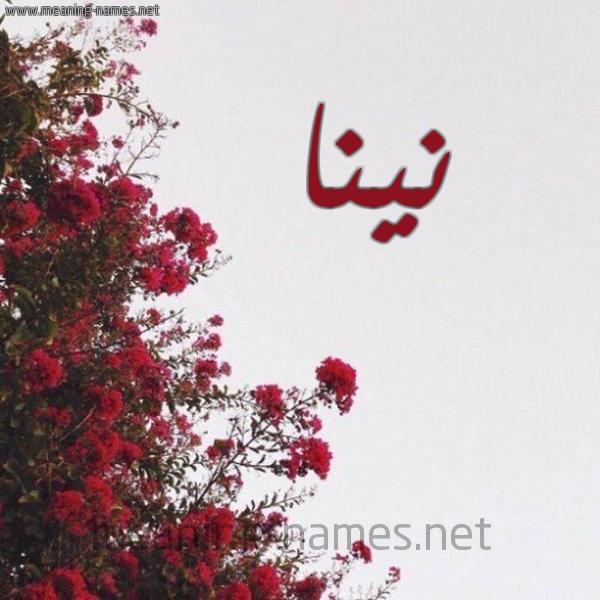 شكل 18 صوره الورد الأحمر للإسم بخط رقعة صورة اسم نينا NINA