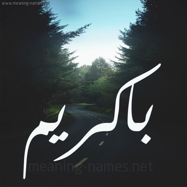 شكل 19 صوره طريق بين الشجر بخط رقعة صورة اسم باكريم BAKRIM