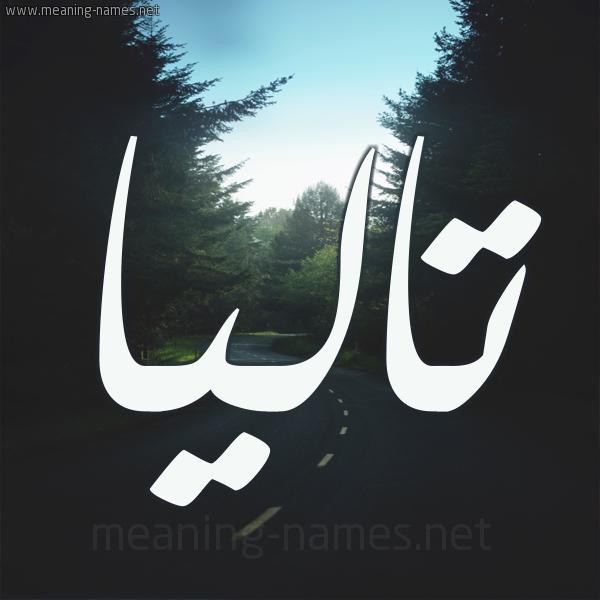 شكل 19 صوره طريق بين الشجر بخط رقعة صورة اسم تاليا Talia