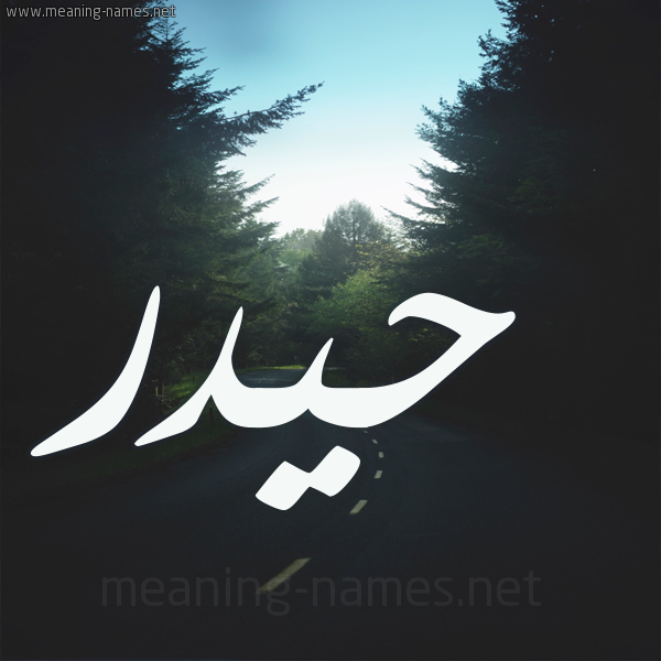 شكل 19 صوره طريق بين الشجر بخط رقعة صورة اسم حيدر Hydr