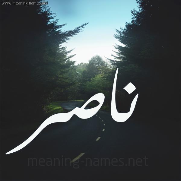 ناصر شكل 19 صوره طريق بين الشجر بخط رقعة كتابة على الورد 2021