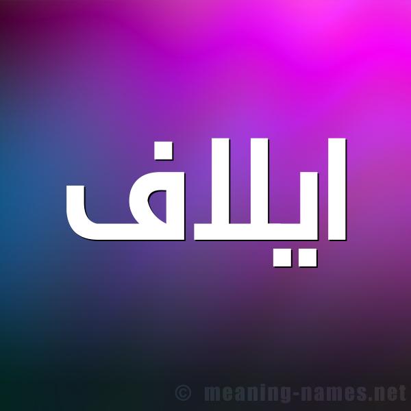 صورة اسم ايلاف Eilaf شكل 1 صوره للإسم بخط عريض