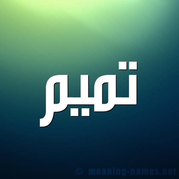 صورة اسم تميم Tmym شكل 1 صوره للإسم بخط عريض