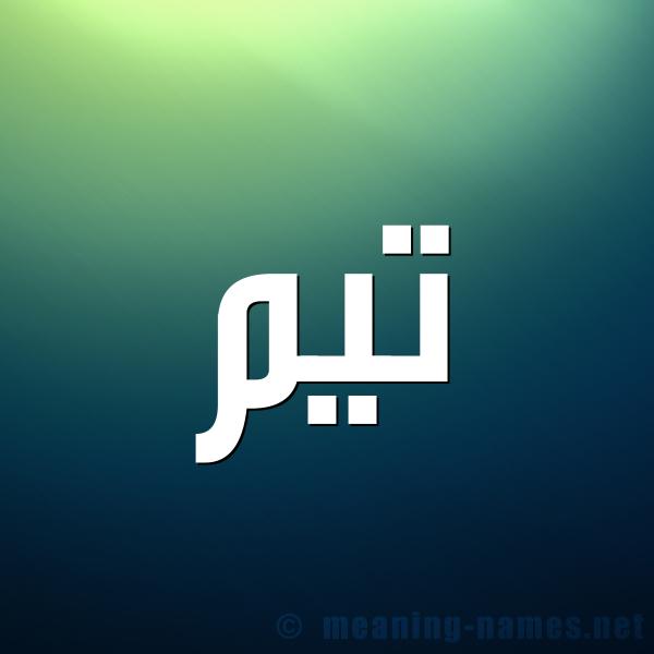 صورة اسم تَيْم Taim شكل 1 صوره للإسم بخط عريض