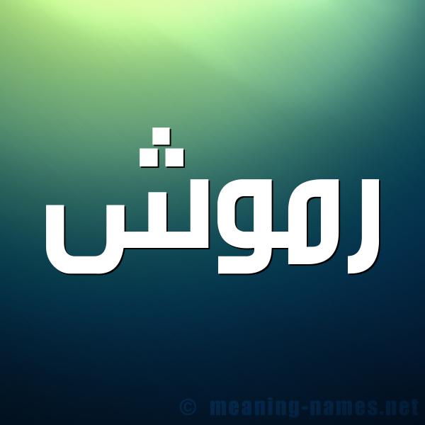 صورة اسم رموش Rmwsh شكل 1 صوره للإسم بخط عريض