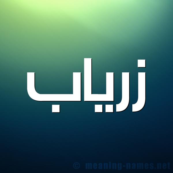 شكل 1 صوره للإسم بخط عريض صورة اسم زرياب Zriab