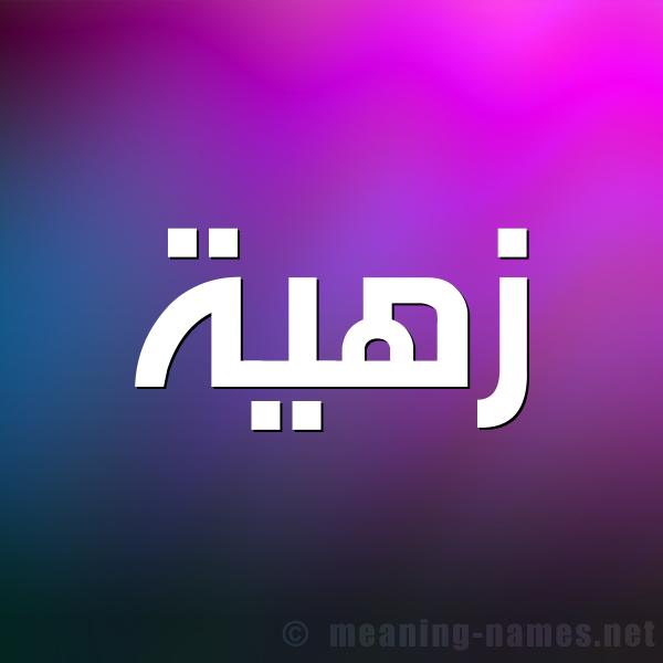 صورة اسم زهية Zhyh شكل 1 صوره للإسم بخط عريض