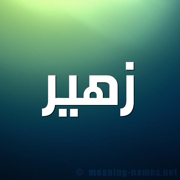 شكل 1 صوره للإسم بخط عريض صورة اسم زهير Zohyr