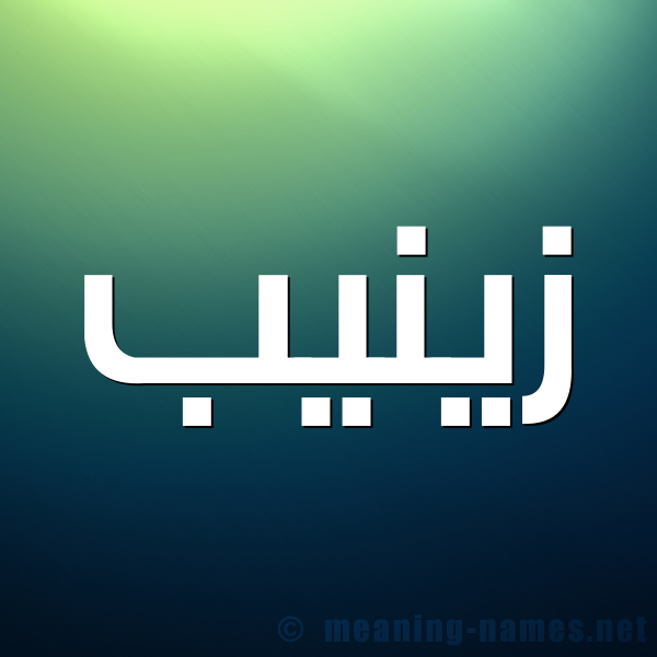 صورة اسم زينيب Zainab شكل 1 صوره للإسم بخط عريض