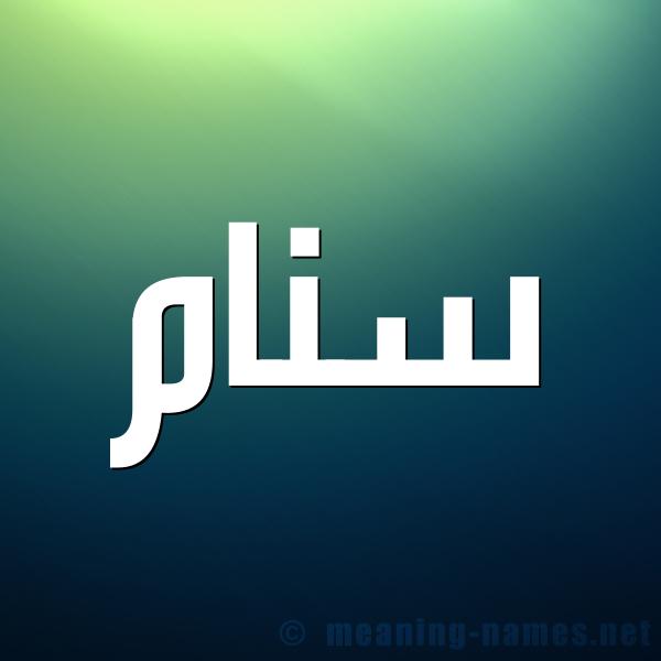 صورة اسم سنام Snam شكل 1 صوره للإسم بخط عريض